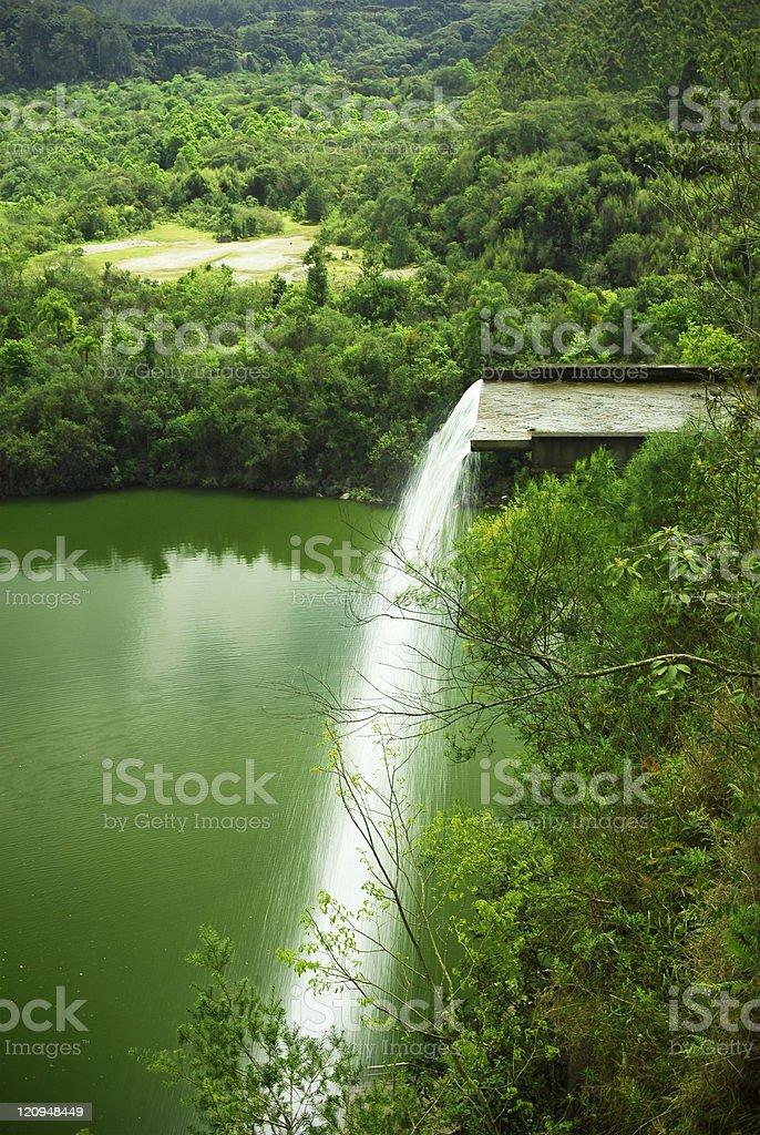 Artificial big waterfall royalty-free stock photo