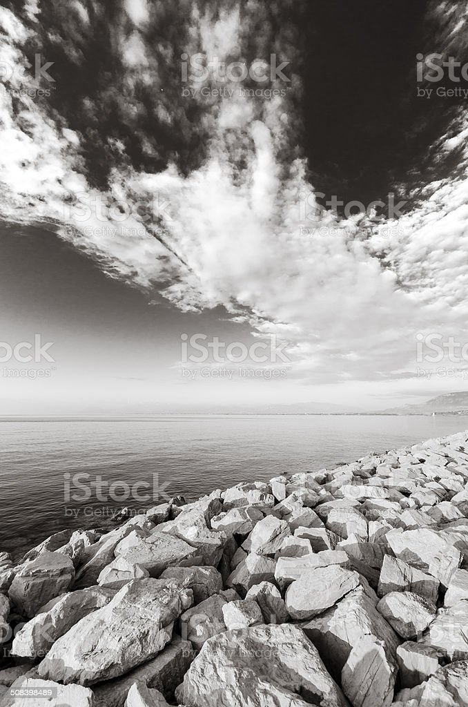 Scogliera artificiale stock photo