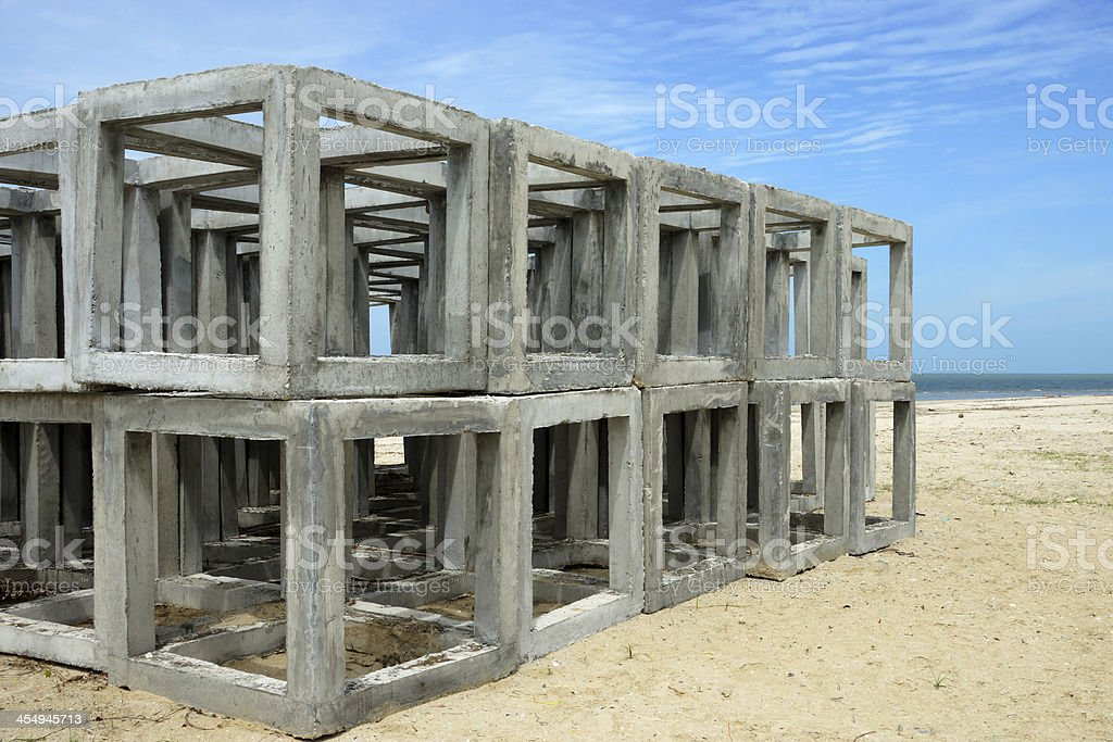 Artificial cube Reef stock photo