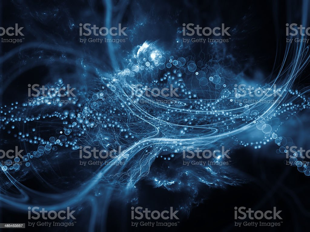 Artificial DNA stock photo