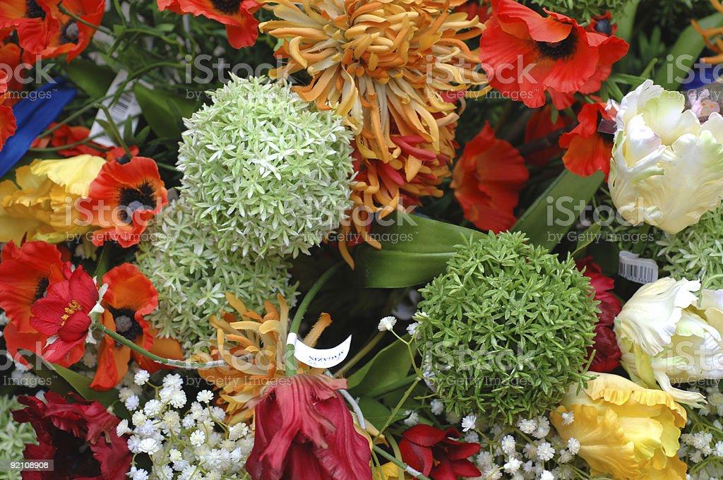 artificial flower arrangement stock photo