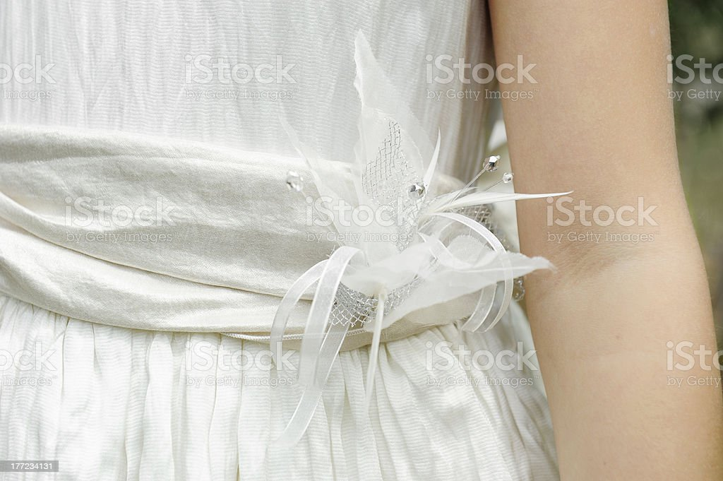 Artificial flower detail. stock photo