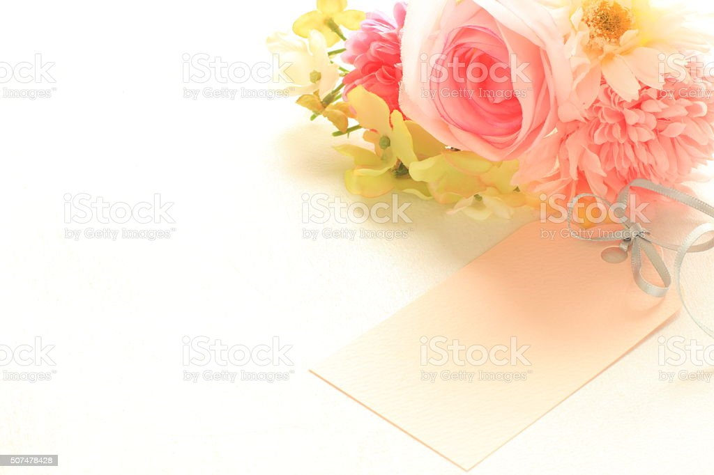 artificial flower stock photo