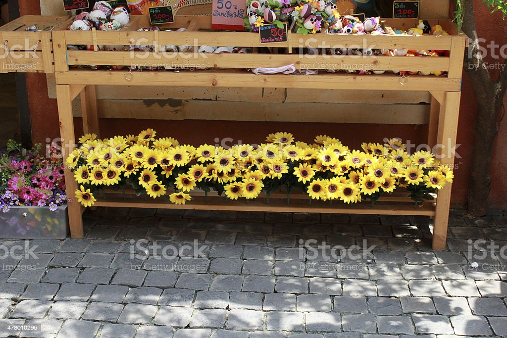Artificial flower shop. stock photo