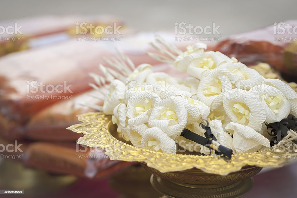 Artificial flowers. stock photo