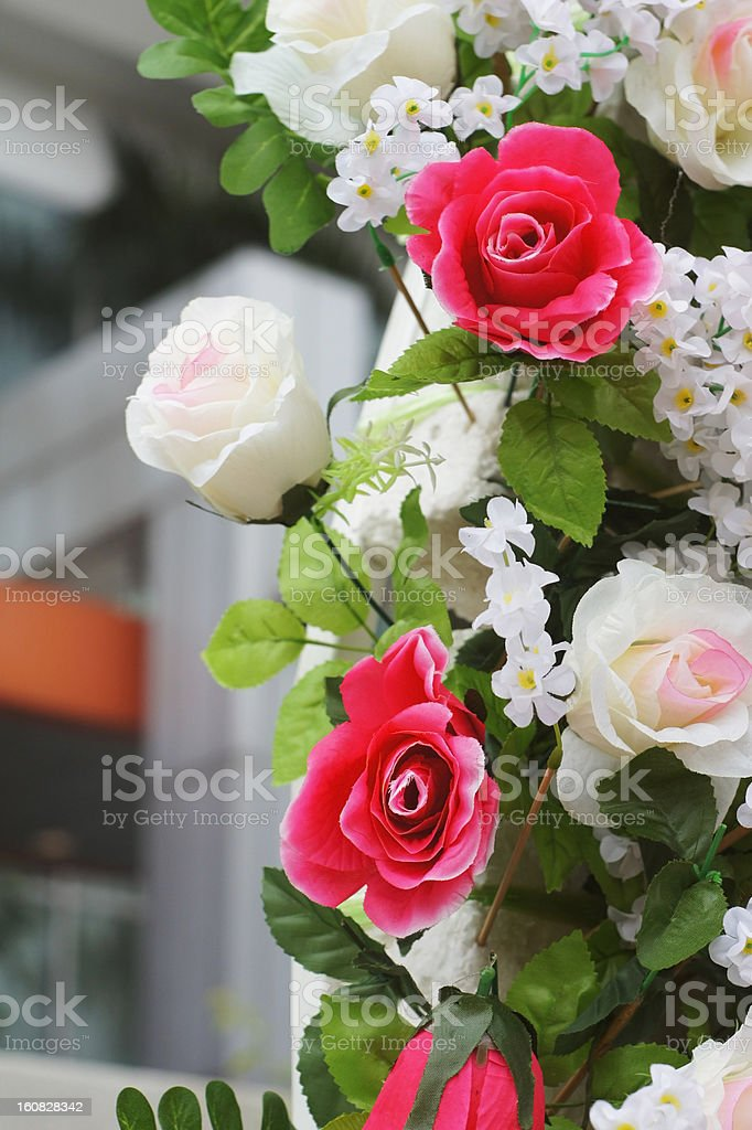 artificial flowers - rose royalty-free stock photo
