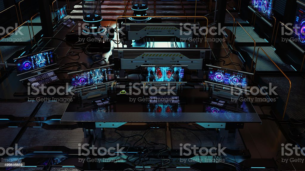 Artificial  futuristic laboratory stock photo