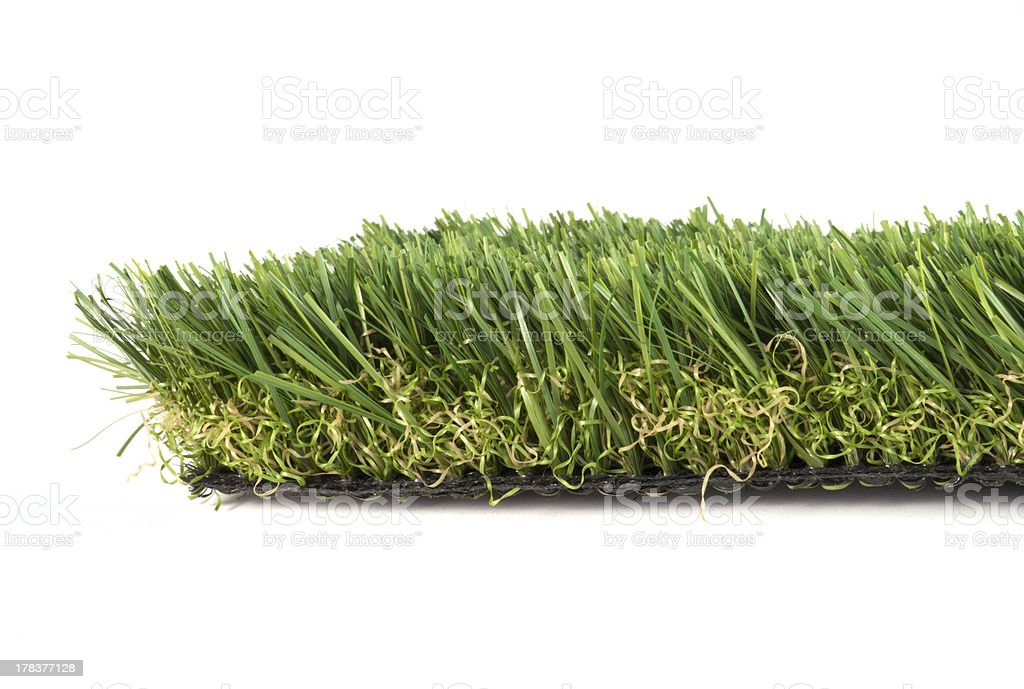artificial grass on a white background stock photo