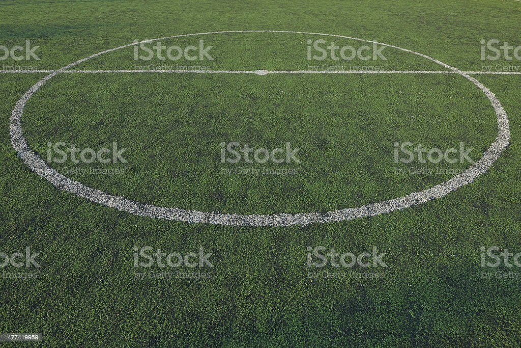 Artificial grass soccer field, sport game background royalty-free stock photo
