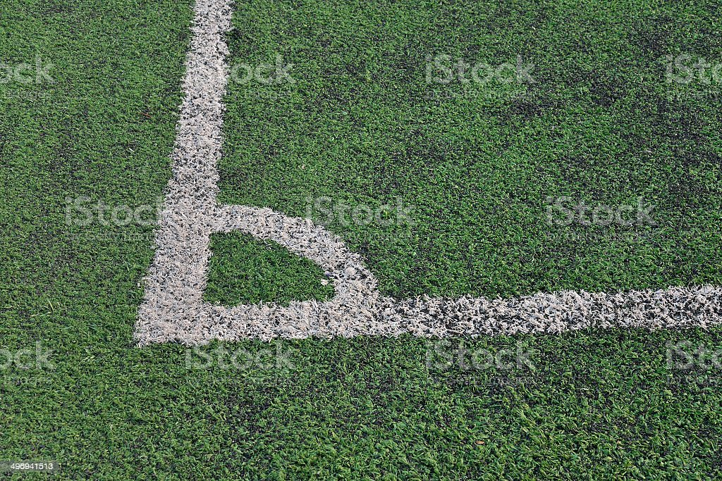 artificial green grass soccer royalty-free stock photo