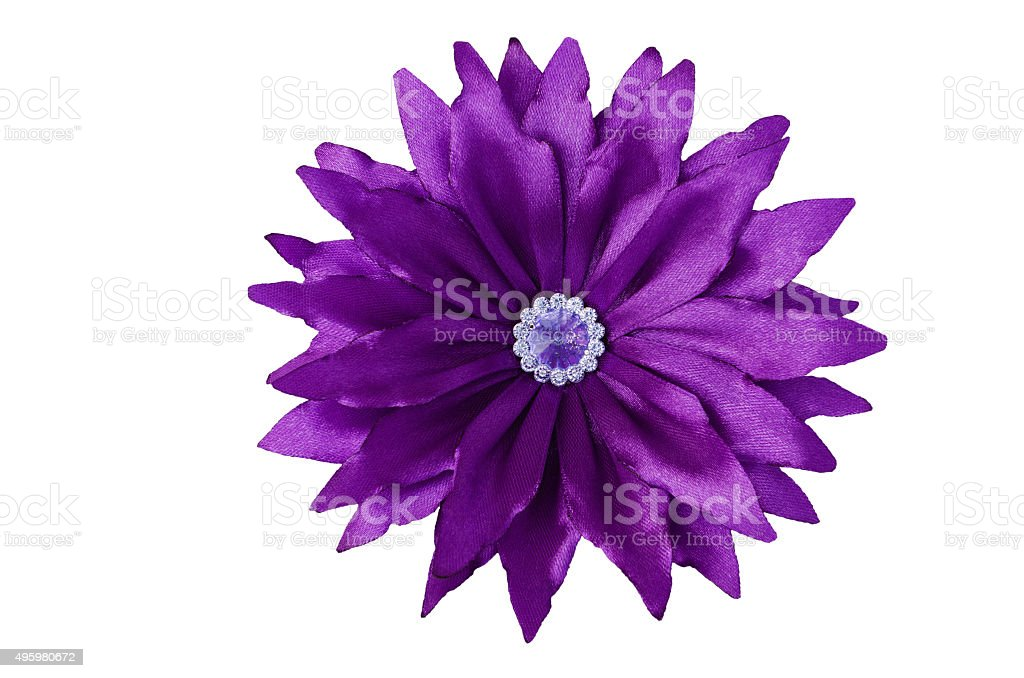 Artificial handmade flower stock photo