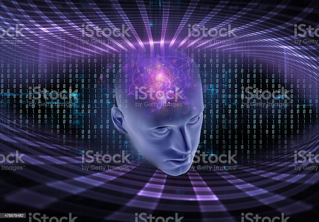 Artificial intelligence, abstract scientific concept stock photo