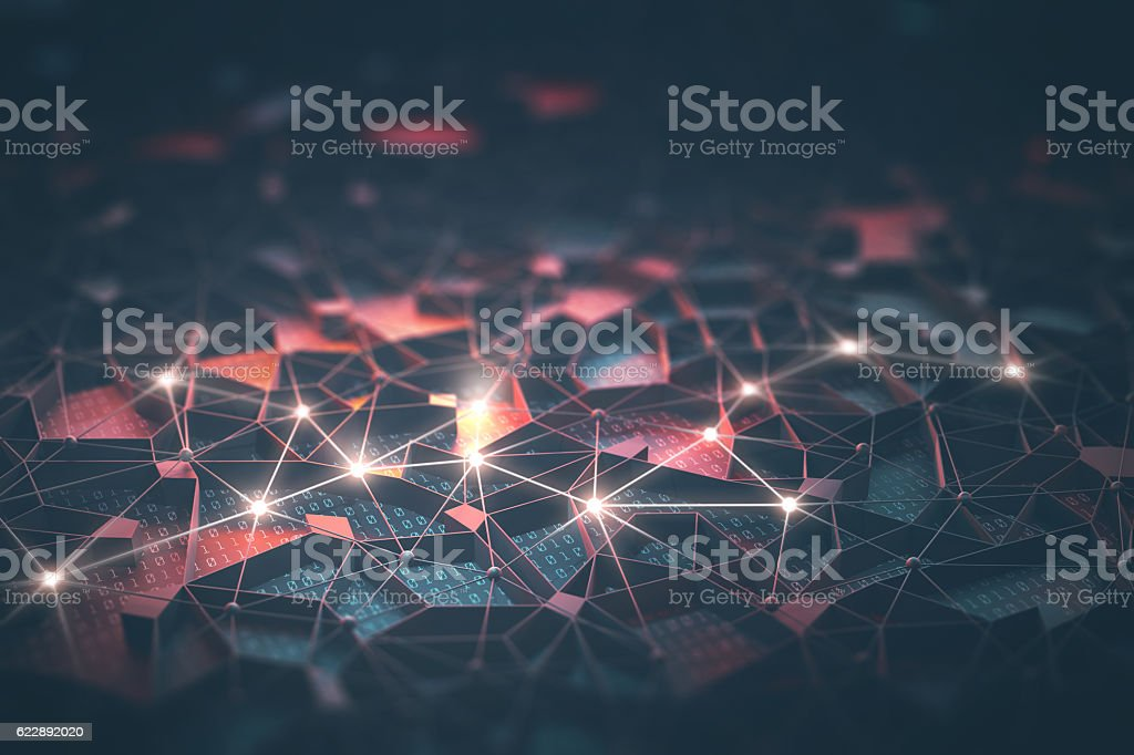 Artificial Intelligence / Neural Network stock photo
