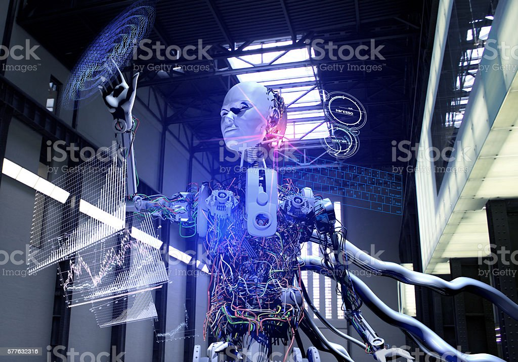 Artificial Intelligence System stock photo