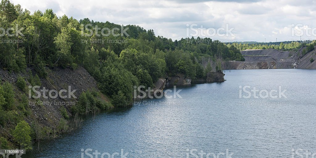 Artificial lake caused by mining royalty-free stock photo