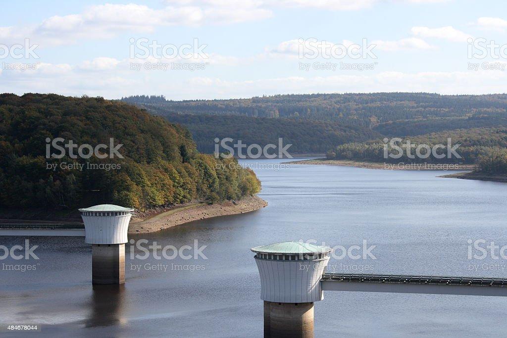 artificial lake stock photo