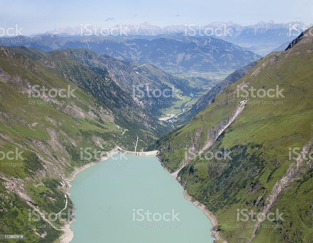 Artificial lake Wasserfallboden (Kaprun, Austria) royalty-free stock photo