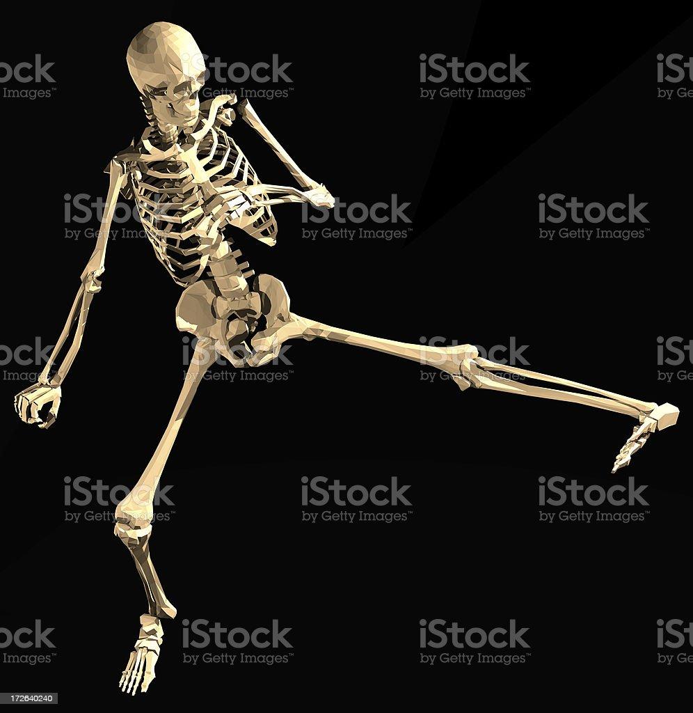 Artificial Lone Skeleton Kung-Fu #2 stock photo