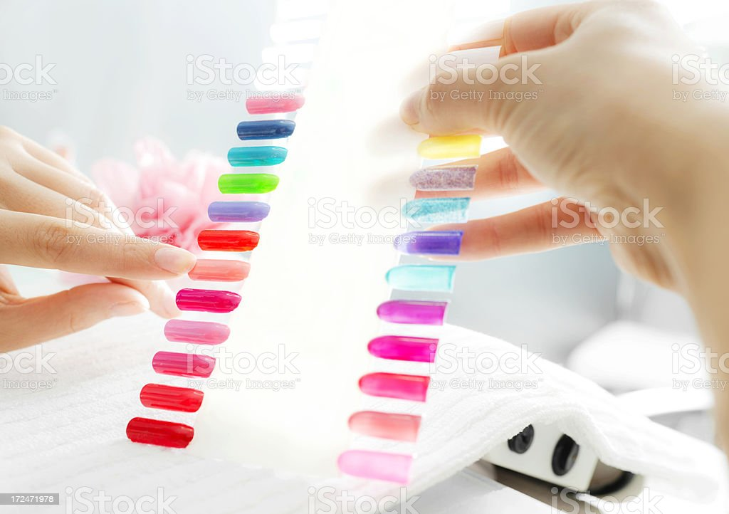 Artificial nail palette. royalty-free stock photo