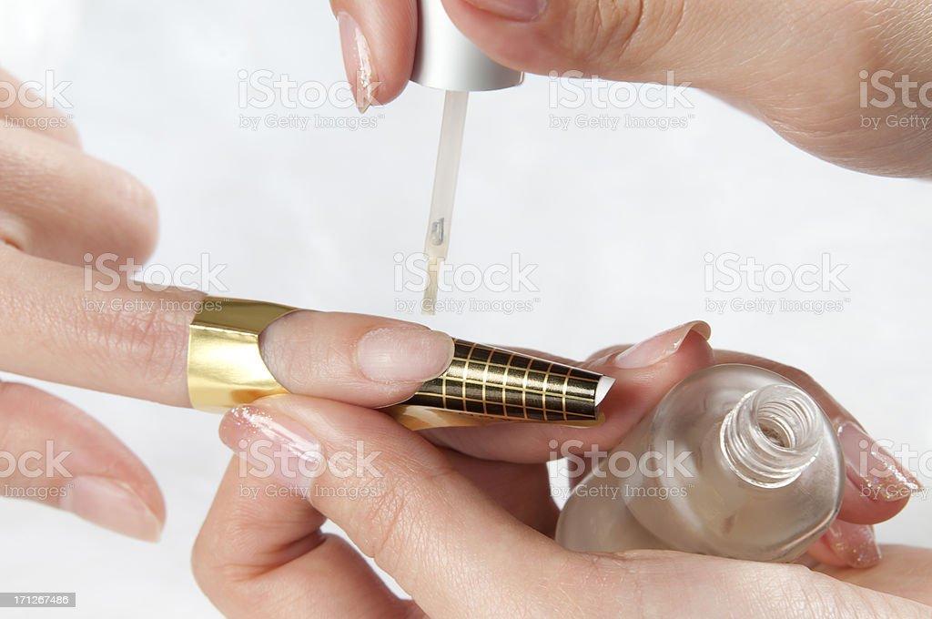 Artificial Nails - Making Acrylic Nail stock photo