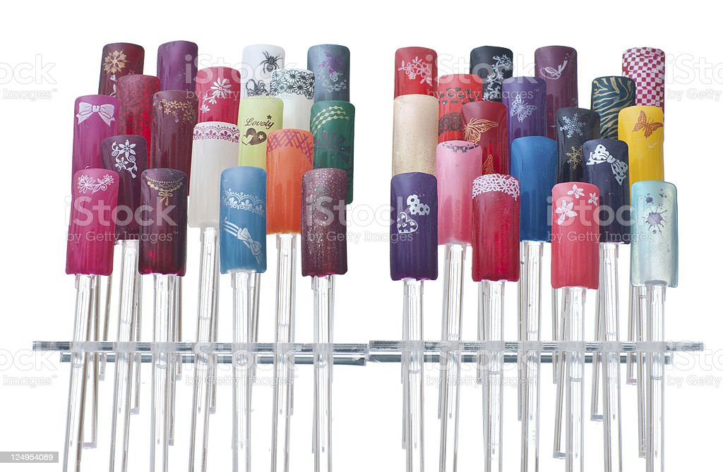 artificial nails royalty-free stock photo