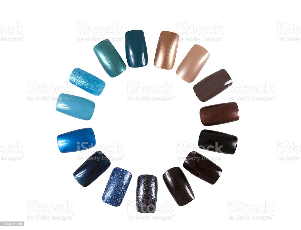 Artificial nails stock photo