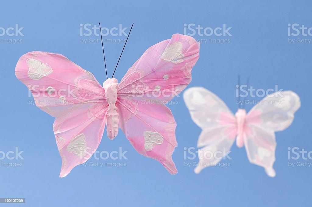 Artificial Nylon Decorative Butterflies stock photo
