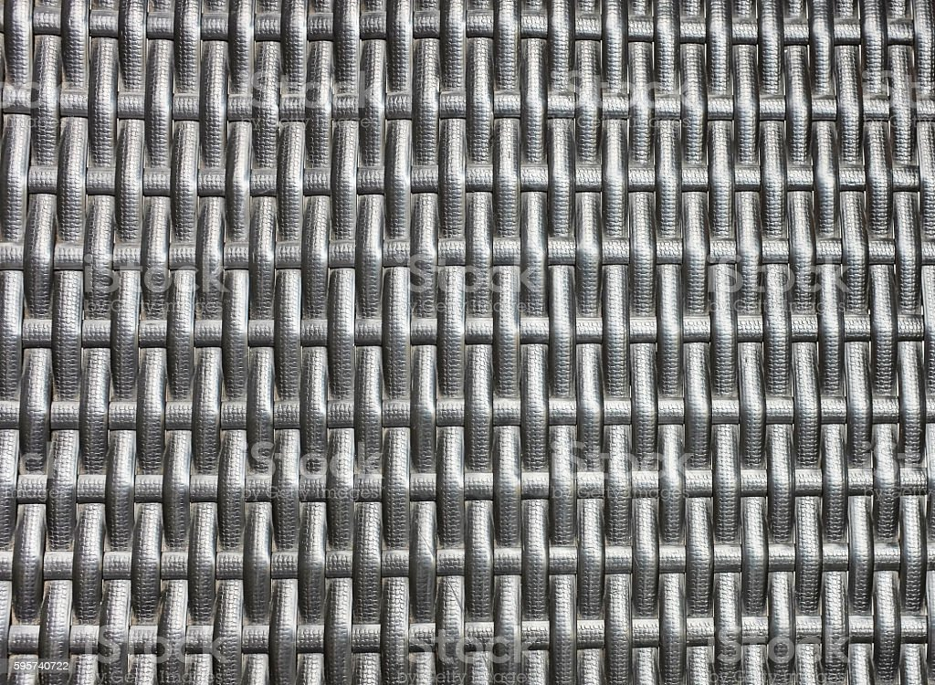 Artificial rattan weave, black and white stock photo