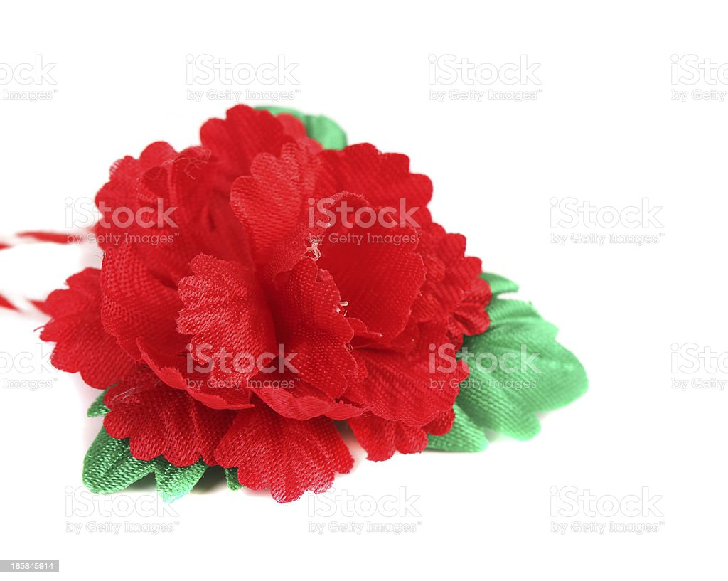 Artificial red flower. stock photo