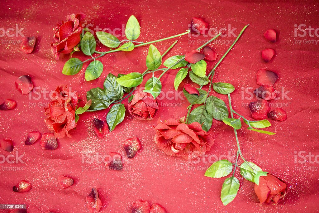 Artificial red roses royalty-free stock photo
