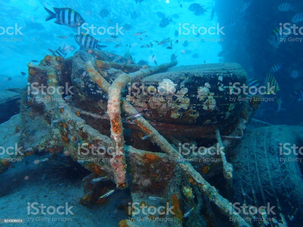 artificial reef stock photo