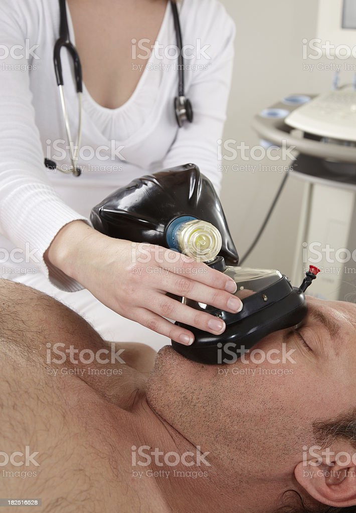 Artificial respiration royalty-free stock photo