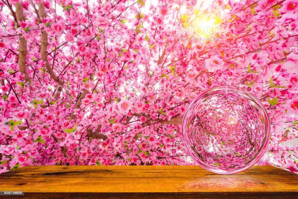 Artificial Sakura flowers or cherry blossoms. stock photo