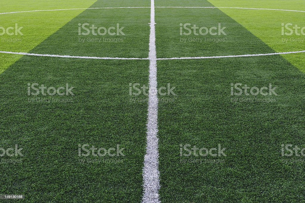 Artificial Soccer Field royalty-free stock photo