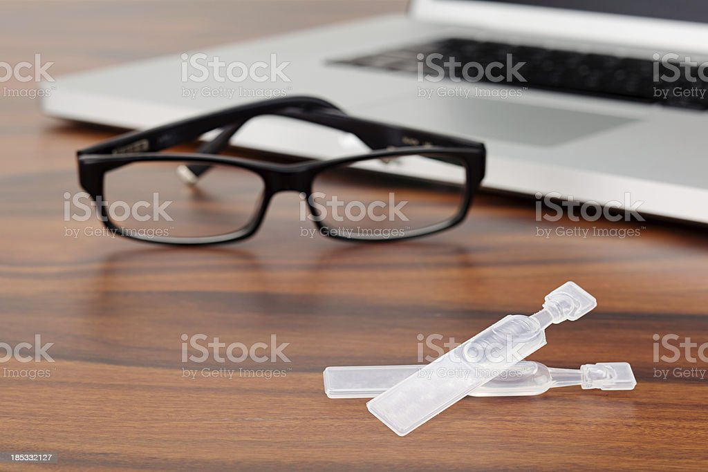 Artificial tears and computer royalty-free stock photo