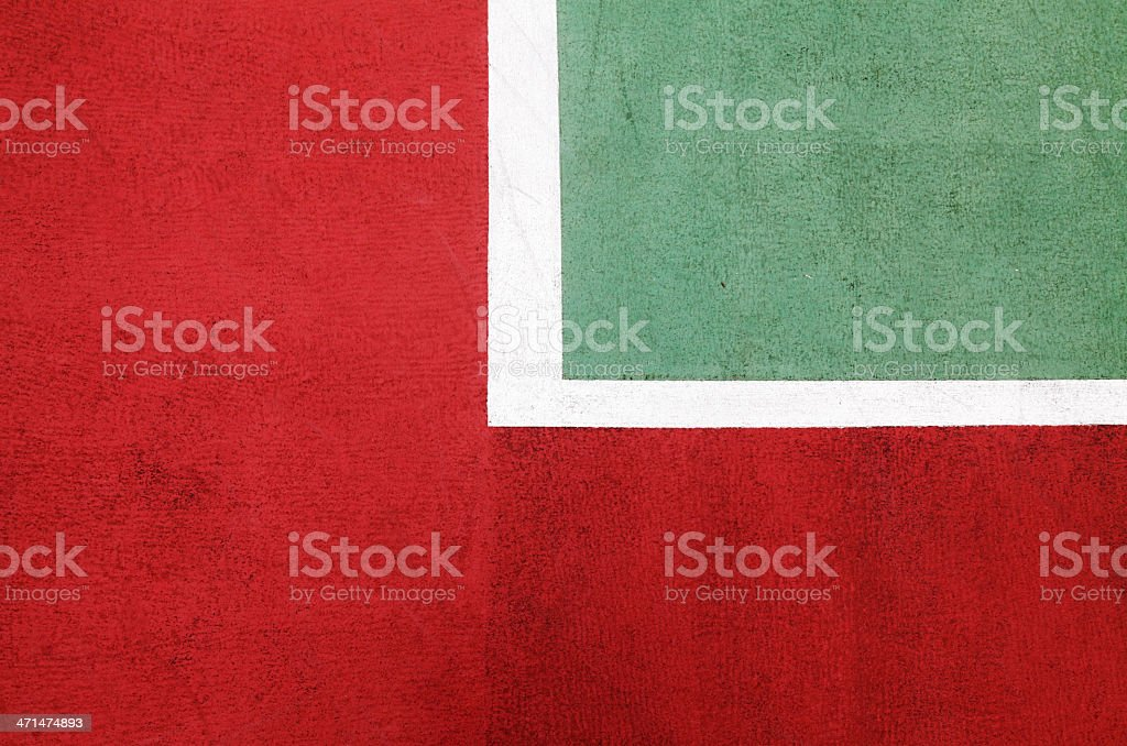 Artificial turf two-color with white markings royalty-free stock photo