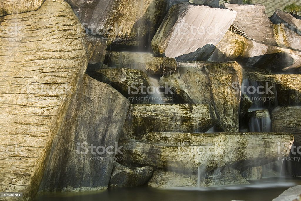 Artificial Waterfall stock photo