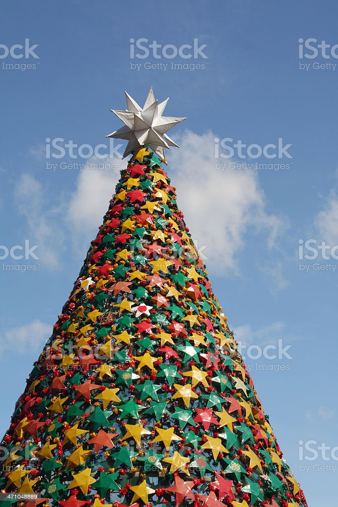 Artificial xmas tree royalty-free stock photo