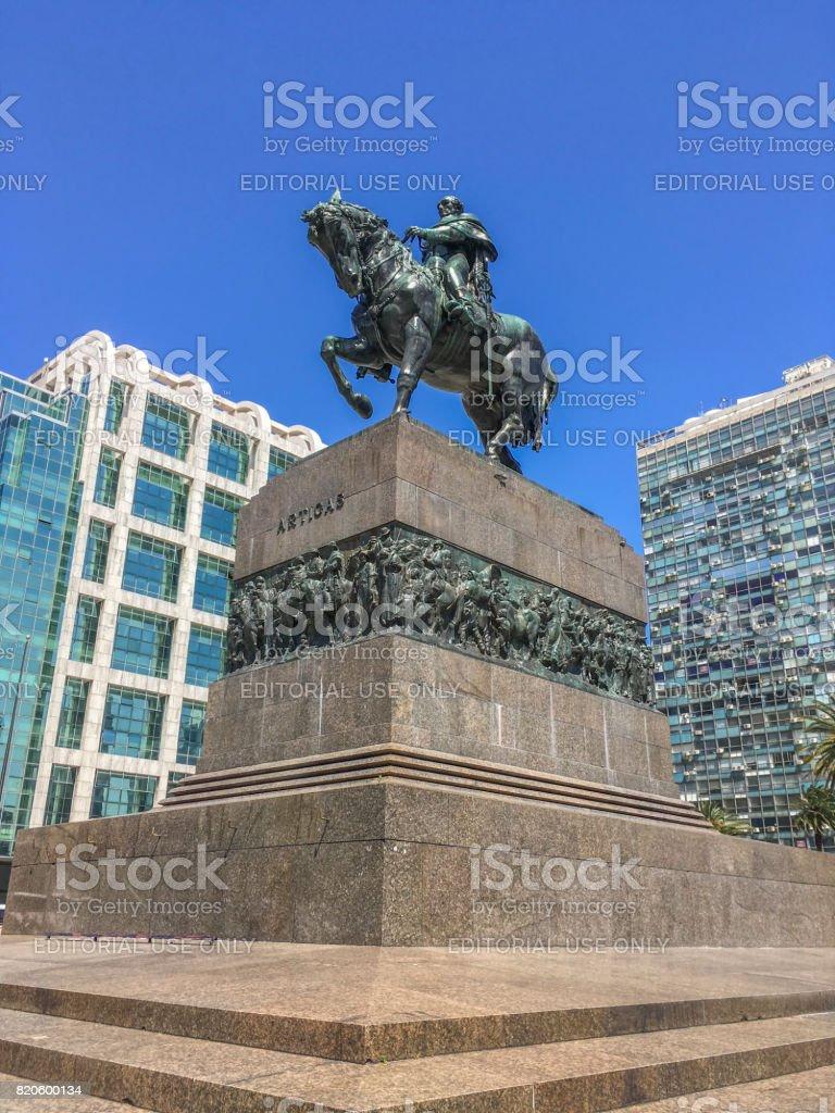 Artigas monument stock photo