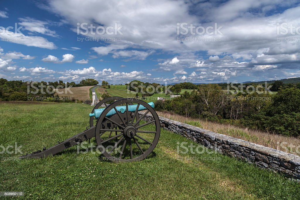 Artillery at Antietam Final Attack Site royalty-free stock photo