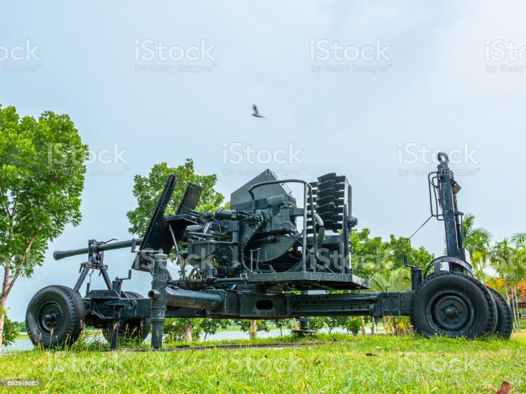 artillery field gun stock photo