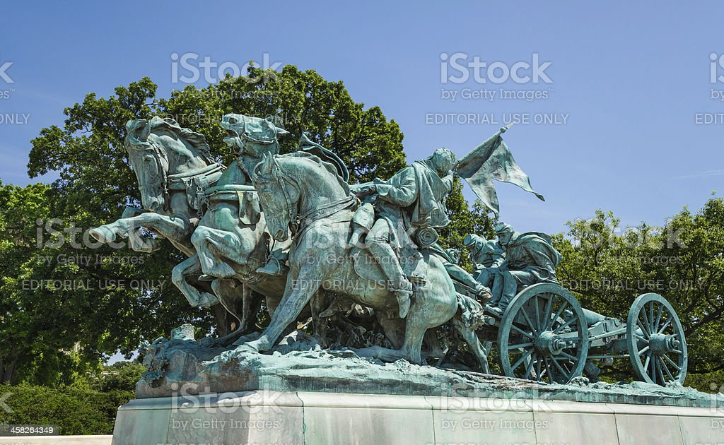 Artillery Group, Southern Part of Ulysses S. Grant Memorial royalty-free stock photo