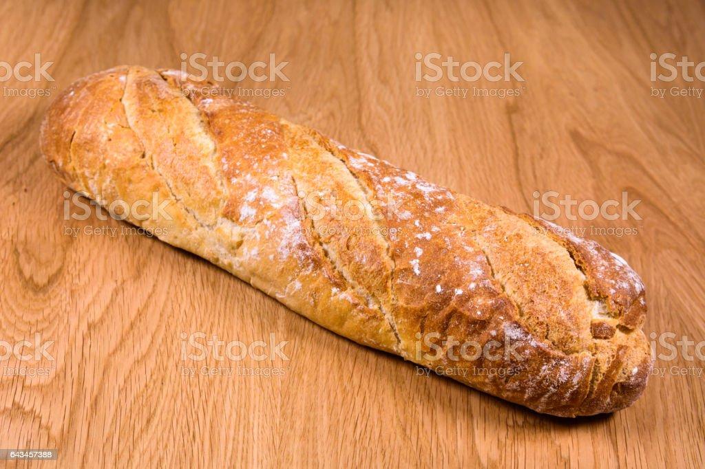 Artisan Bread on table wood stock photo