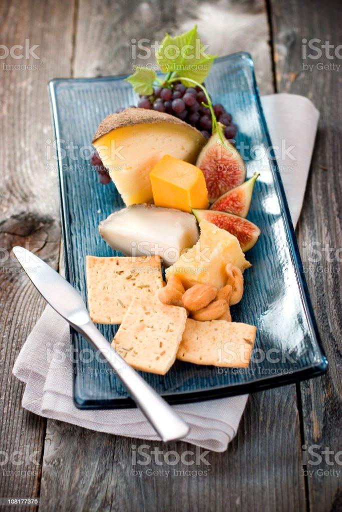 Artisan Cheese Plate stock photo