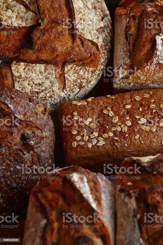 Artisan full grain bread stock photo