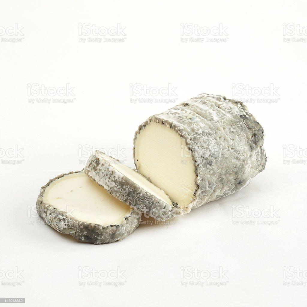 Artisan goat cheese log stock photo