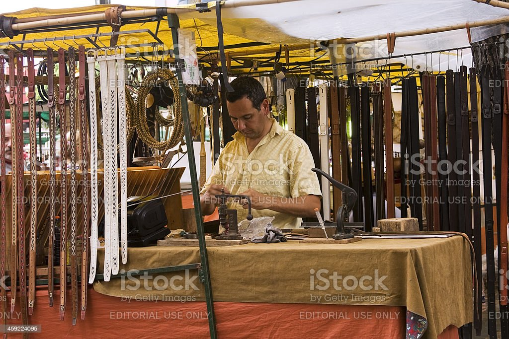 Artisan leather working royalty-free stock photo