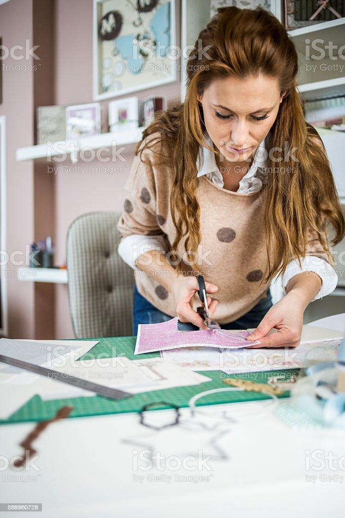 Artisan woman stock photo