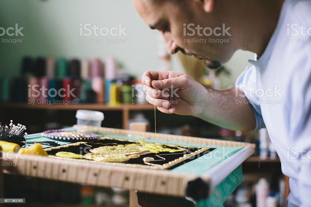 Artisan working stock photo