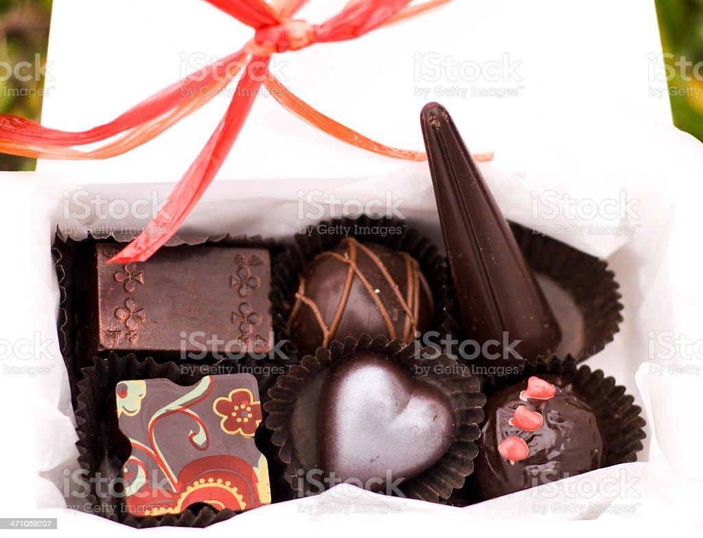 Artisanal Chocolates Gift Box royalty-free stock photo